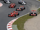 1st corner after the start. Alonso runs wide into the gravel