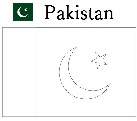 pakistani flag coloring pages - photo#15