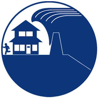 イラスト素材の制作ノート: 津波警戒区域のピクトグラム イラスト素材の... イラスト素材の制作