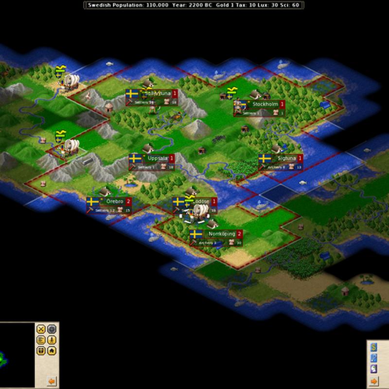 Cómo jugar a FreeCiv videojuego de estrategia por turnos: vista general.
