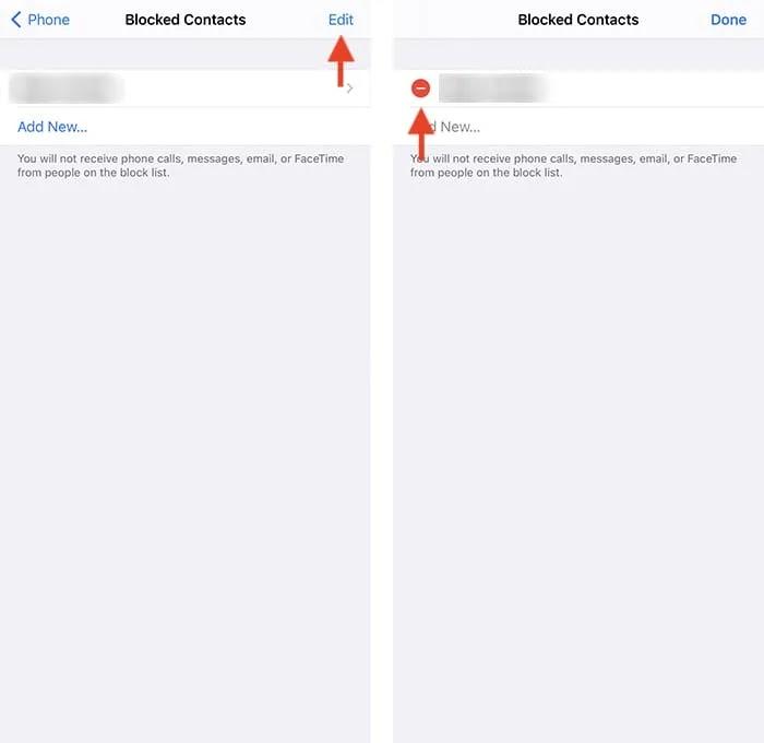 قم بإلغاء حظر الوضع اليدوي لتطبيق إعدادات iPhone لرقم الهاتف