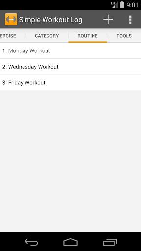 Simple Workout Log PRO Key 1.1 screenshots 4
