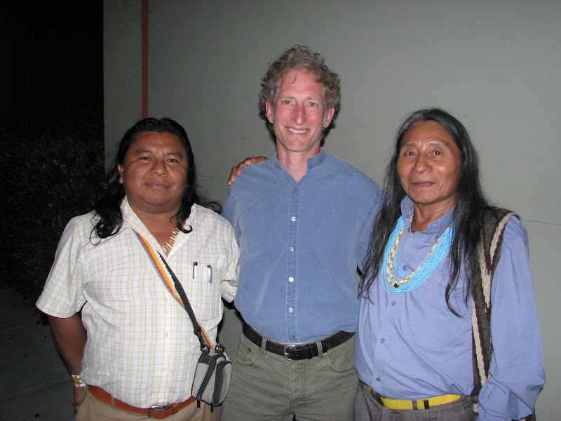 Martin Wagner, a lawyer with EarthJustice, helped the U'wa file a case before the Inter-American Commission on Human Rights in the late 1990's. At a dinner, the U'wa spoke with Martin about how to continue leveraging the Commission in defense of their territories.