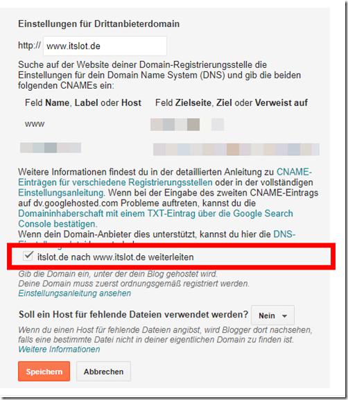 blogspot-www-auf-domain-weiterleiten