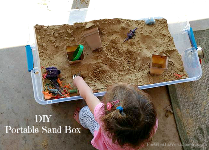 diy portable sand box