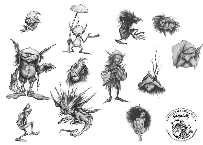 Horror Tattoo Design 3, Fantasy Tattoo Designs