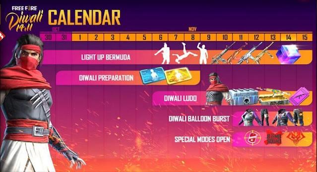 Free Fire Diwali Etkinliği 2020'ye nasıl katılır ve ödüller kazanırsınız: Adım adım kılavuz