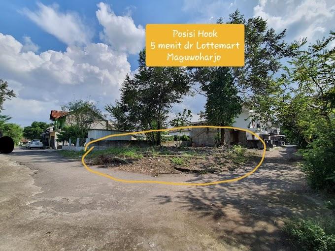 Tanah Hook murah strategis Pinggir Jalan Seputar Lotte Mart Maguwoharjo