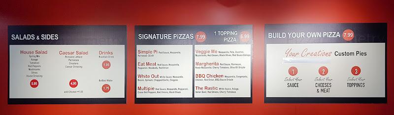 menu at Pizzanometry