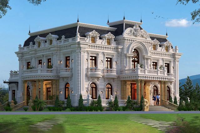 Mẫu thiết kế 2 tầng đẹp phong cách Pháp tại Thanh Hóa