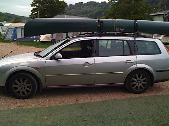And we're out, the canoe back on the car and off home - a great and eventful Autumn trip.