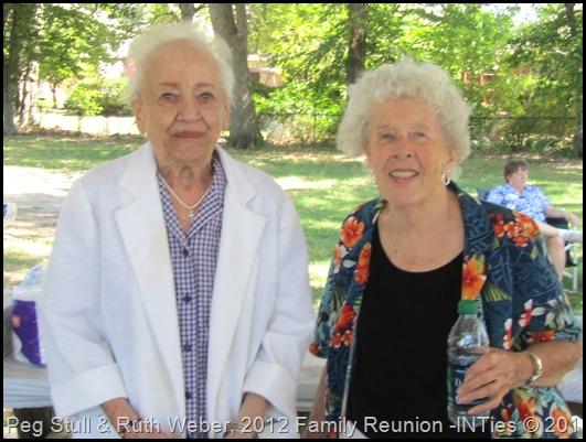 2012, Peg Stull & Ruth Weber, Weber Kuhn Family Reunion