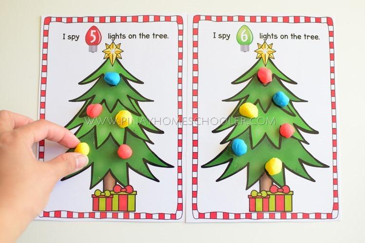 Christmas Themed Counting Mats