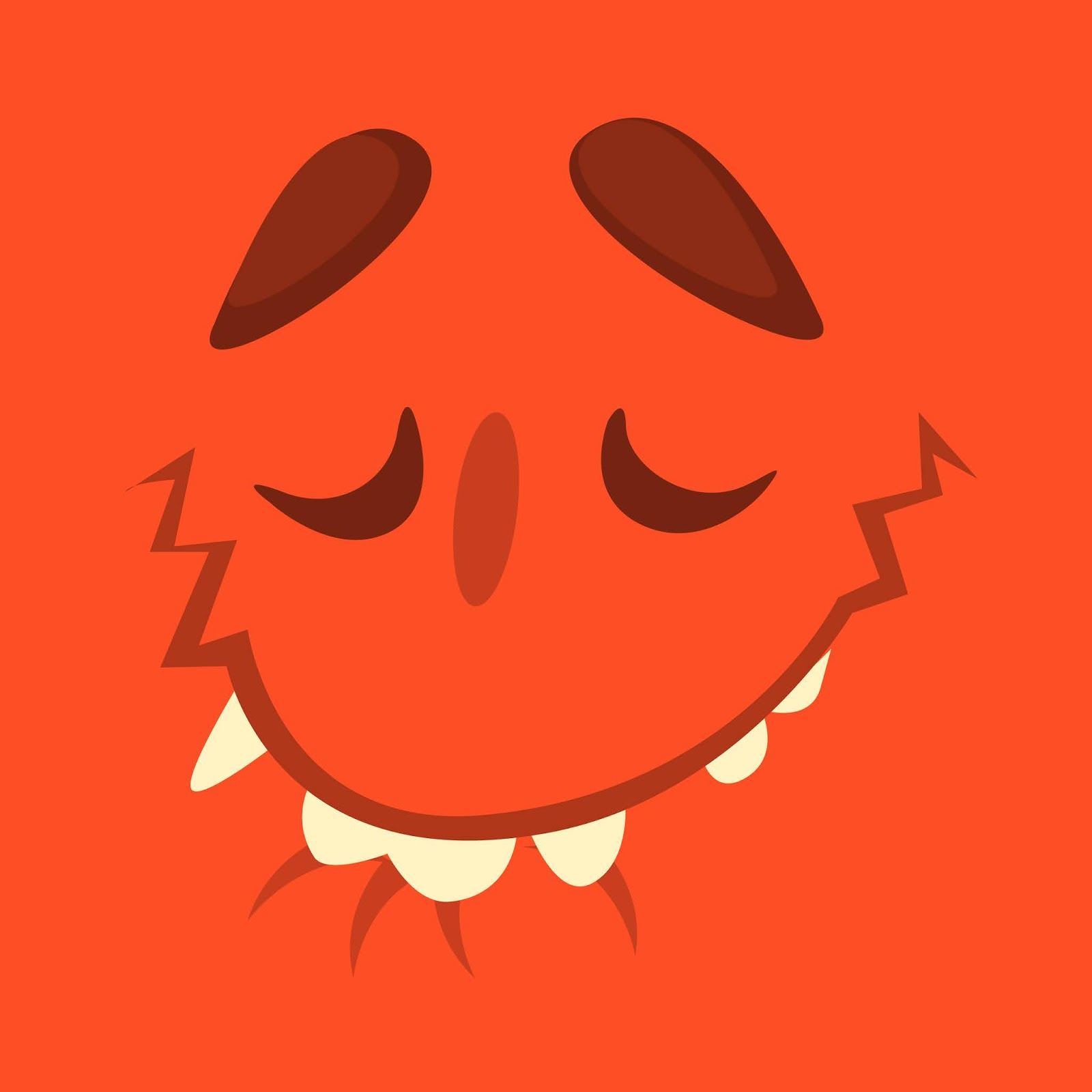Cartoon Monster Face Avatar Halloween Funny Free Download Vector CDR, AI, EPS and PNG Formats