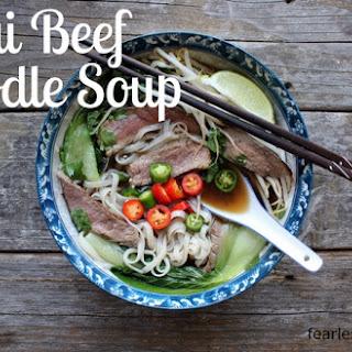 Thai Beef Noodle Soup.