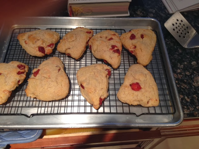 pearwise: Meyer Lemon and Dried Strawberry Scones