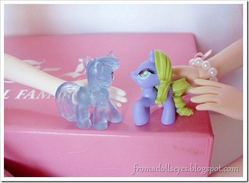 My Little Pony blind bag figures, they're the perfect size for dolls.