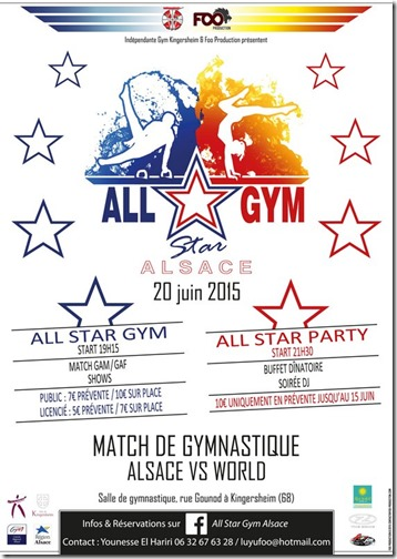 Affiche All Star Gym recto