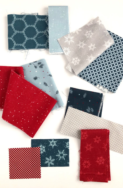 Winterland fabrics found on A Bright Corner blog - you have to click through to see what she made with them!
