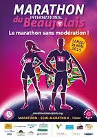 affiche Marathon du Beaujolais 2015