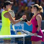 Jelena Jankovic, Laura Siegemund in action at the 2016 Australian Open