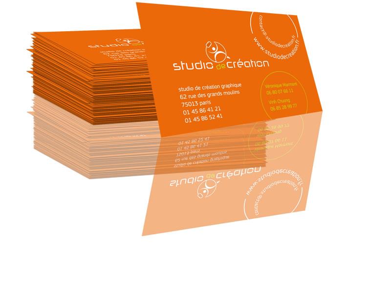 Prsentation Stylise Carte De Visite Studio Cration