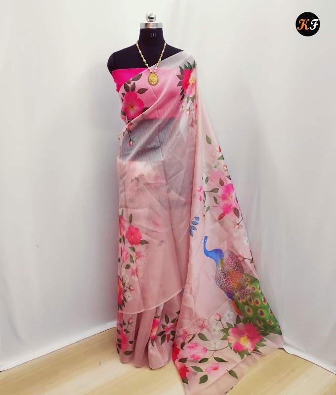 Saree with gorgeous print