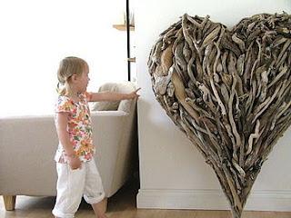 Extra-large Driftwood Heart by Karen Miller
