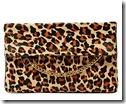 Karen Millen Leopard Print Chain Clutch