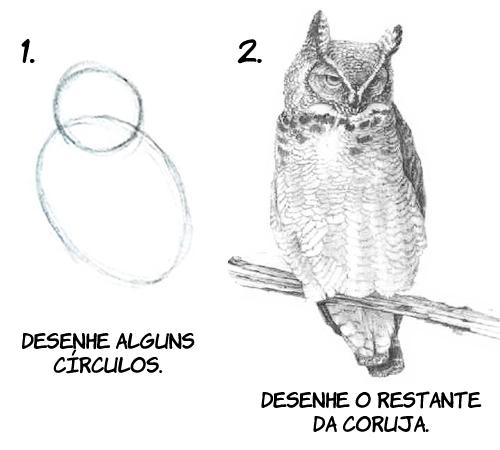 comodesenharumacoruja Como desenhar uma coruja