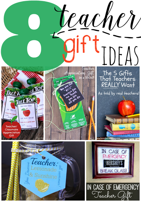 8 Teacher Gift Ideas at GingerSnapCrafts.com #linkparty #features