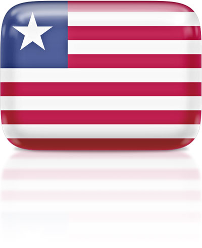 Liberian flag clipart rectangular