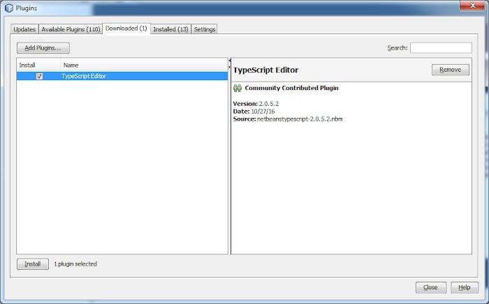 netbeans typescript plugin