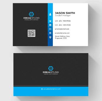Membuat Kartu Nama Untuk Perusahaan Developer | Templates Design Gratis