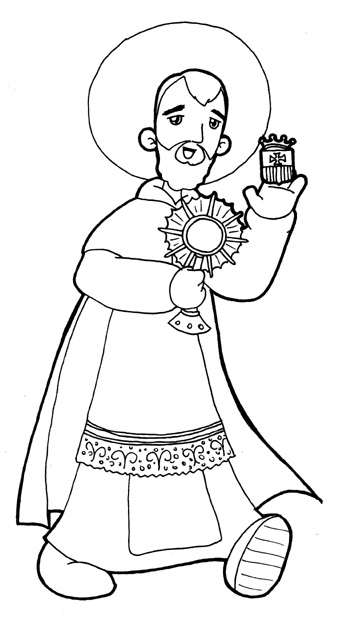 Saint Ramón Nonato protect of the unborn coloring pages