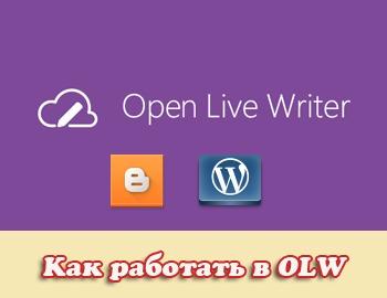 интерфейс open live writer