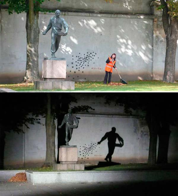 Statue Shadow Art