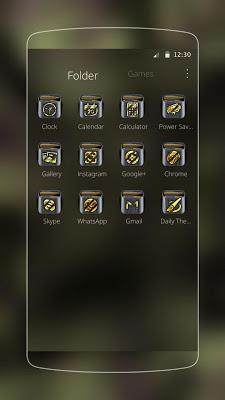 Army Gold Gun Theme - screenshot