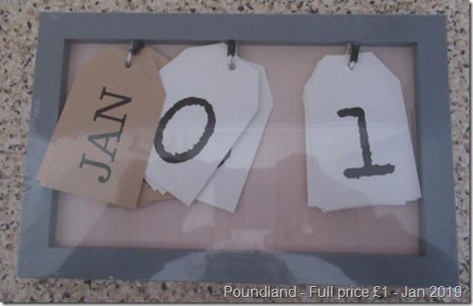 Poundland Tag Calendar