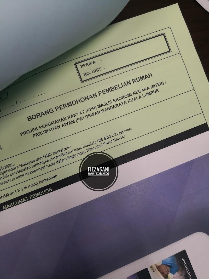 Dua Kali Borang Permohonan Beli Rumah PPR Kena Reject
