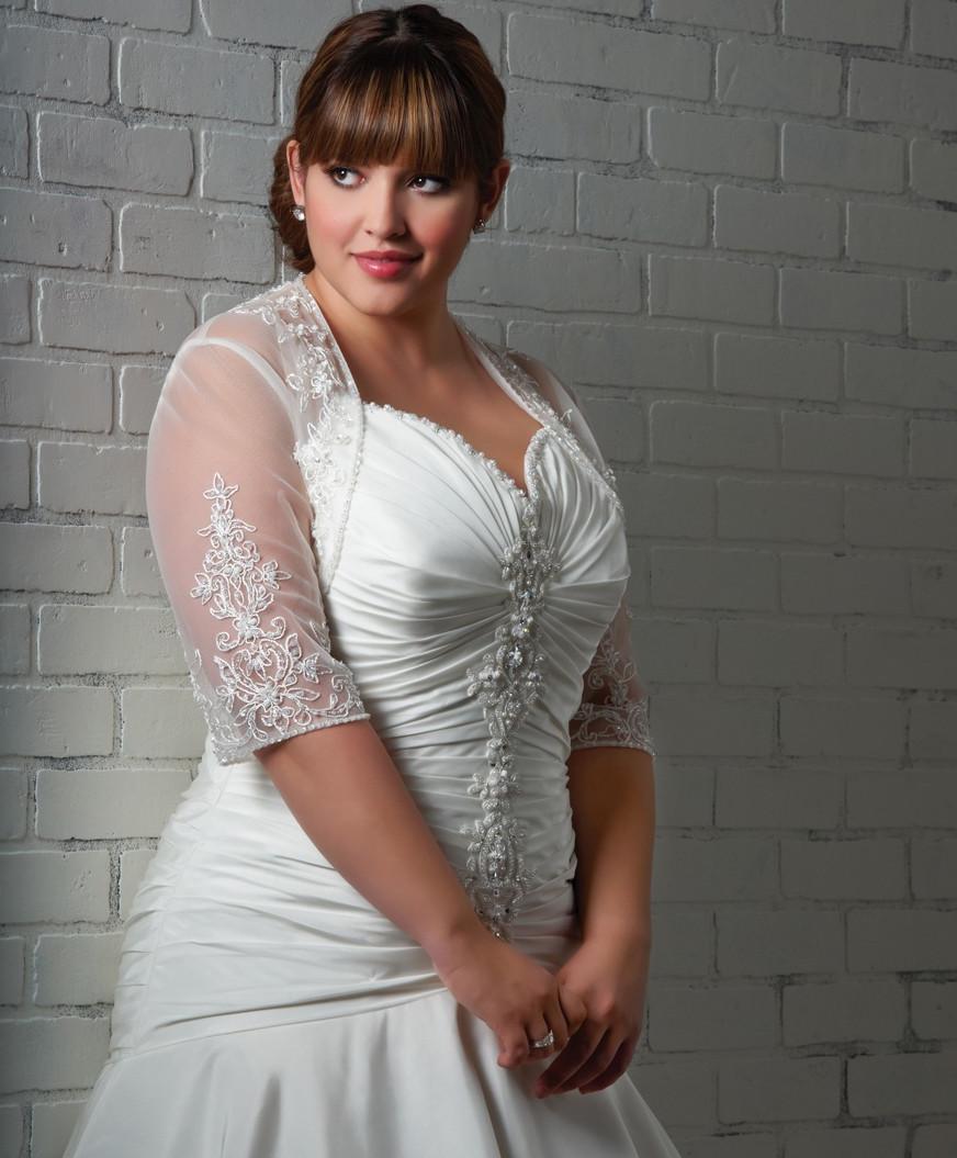 Plus Size Wedding Dress Bolero Jacket ✓ Labzada Blouse