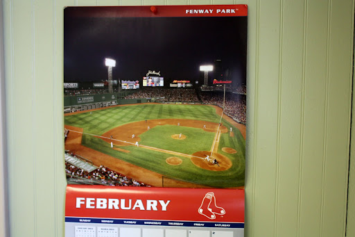 February 2013 work calendar image.