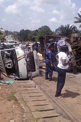 Full Loaded Bus With Passanger Crashes Ain Enugu-Ukwu