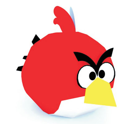 Red Angry Bird Papercraft