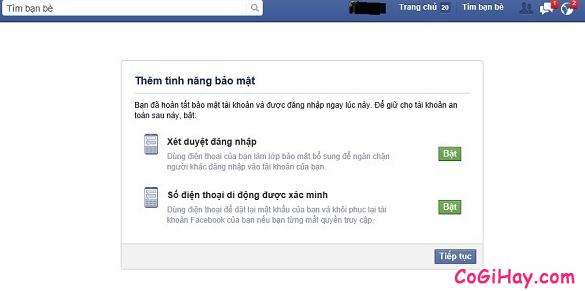 Bảo vệ mật khẩu tài khoản Facebook