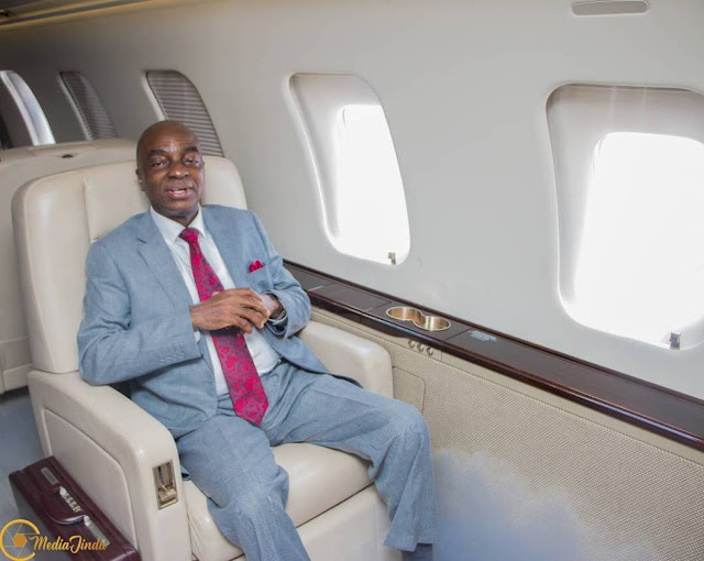 Bishop Oyedepo Reveals How He Feels When People Say He Uses Church Money To Fly & Maintain Private Jets
