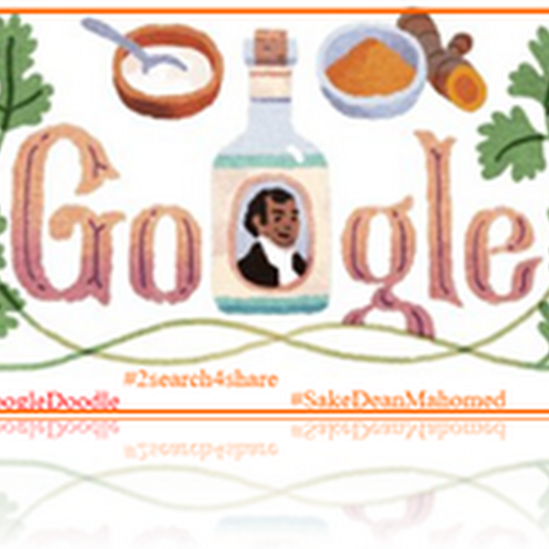 """the shampooing surgeon of Brighton"" #SakeDeanMahomed #GoogleDoodle"
