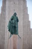 Leif Ericsson foran Hallgrimskirkja