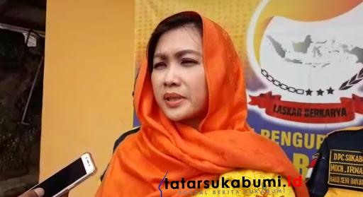 Wasekjen DPP Partai Berkarya Rita Irawati Priatna// Foto : Isep Panji