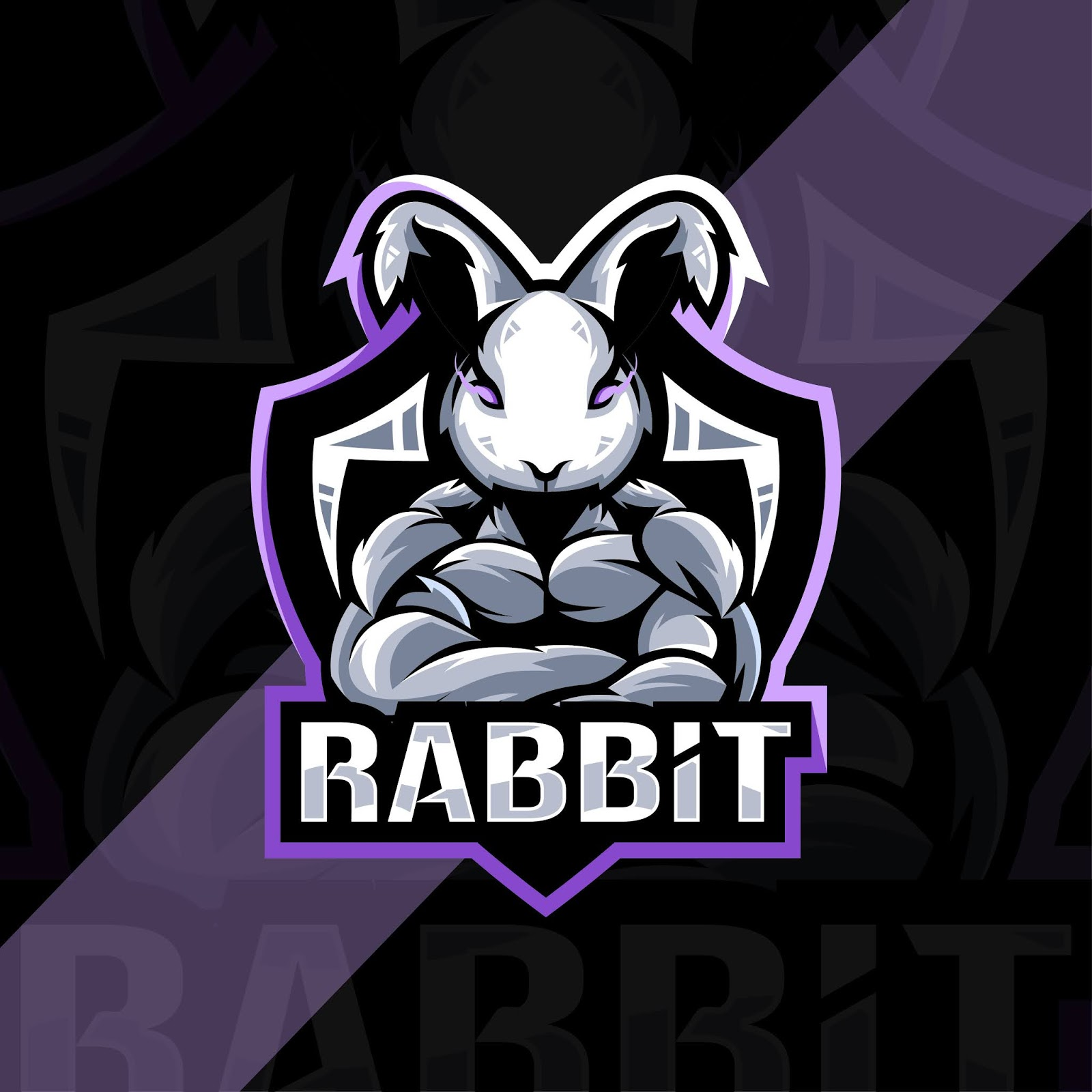 Rabbit Mascot Logo Esport Design Free Download Vector CDR, AI, EPS and PNG Formats
